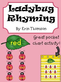 Ladybug Rhyming Word Sort