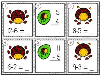 Ladybug Scoot {subtraction to 12}