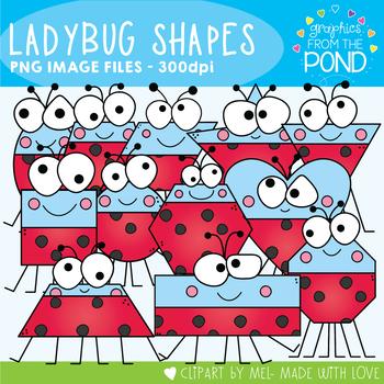 Ladybug Shapes Clipart