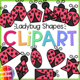 Ladybug Shapes Clipart - Insect Shapes Clipart - Moveable!