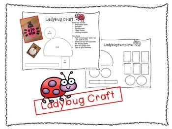 """Ladybug Shared Reading - """"Five Little Ladybugs"""""""