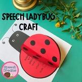 Ladybug Speech Craft {language & articulation craftivity}