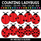 Ladybug Spot Counting Clipart