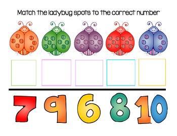 Ladybug Spot Number Match
