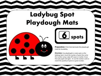 Ladybug Spot Playdough Mats