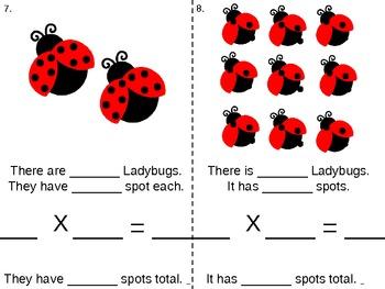 Ladybug Spots: Beginning Multiplication Level 2