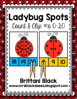Ladybug Spots~ Count and Clip