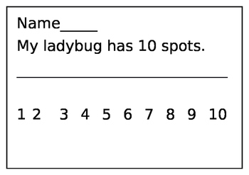 Ladybug Spots Count to 10 Friends of 10 Trace Copy Write
