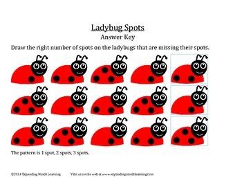 Ladybug Spots - Patterns Worksheet