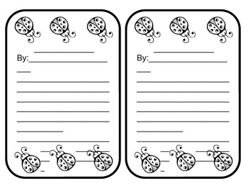 Ladybug Story or Poem - 2 per sheet