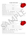 Ladybug Student Information Sheet