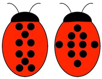 Ladybug Subitizing Cards