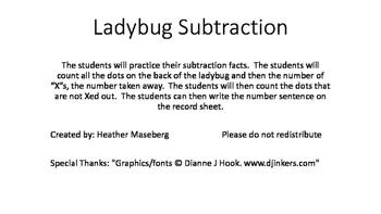 Ladybug Subtraction