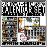 Ladybug & Sunflower Classroom Decor: Calendar Bulletin Board