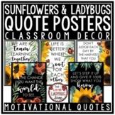 Ladybug & Sunflower Classroom Decor: Motivational Posters Bulletin Board