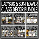 Ladybug Sunflower Theme Classroom Decor, Editable Back to