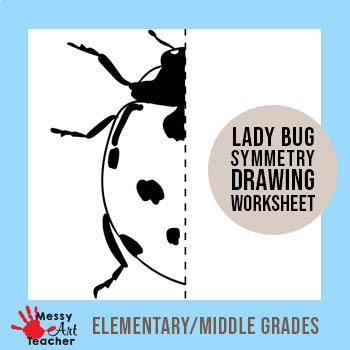 Ladybug Symmetry Worksheet for Elementary/Middle Grades