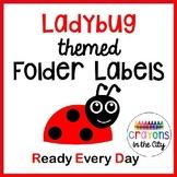 Ladybug Take Home Folder Labels (RED Folder)