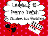 Ladybug Teen 10 Frame Match