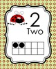 Ladybug Ten Frame Posters - 0 to 20