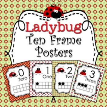Ladybug Ten Frame Posters - 0 to 20