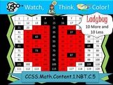 Ladybug Ten More/Ten Less - Watch, Think, Color Game! CCSS