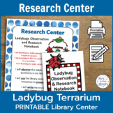 Ladybug Terrarium Observation and Research Center [PRINTABLE]