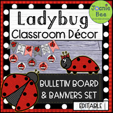 Ladybug Theme Bulletin Board & Banners Set