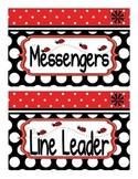 Ladybug Theme Classroom Jobs Display *EDITABLE