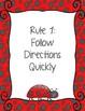 Ladybug Theme Classroom Rules Poster