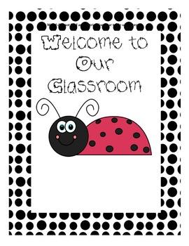 Ladybug Theme Cover Sheet