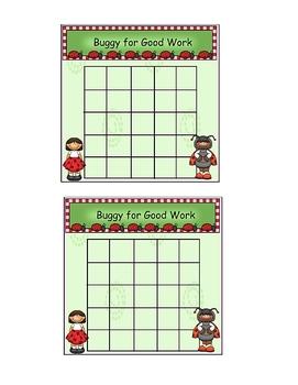 Ladybug Theme Incentive Sticker Chart