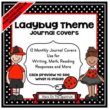 Ladybug Theme Journal Covers * Ladybug Journal Covers