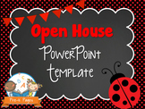 Ladybug Theme Open House ~ Back-to-School ~ PowerPoint Template {personalize it}