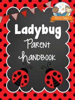 Ladybug Theme Parent Handbook Back-to-School {personalize it}