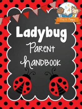 Ladybug Theme Parent Handbook Back-to-School {personalize it}