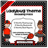 Reading * Reading Logs, Bookmarks, Book Reports * Ladybug Theme
