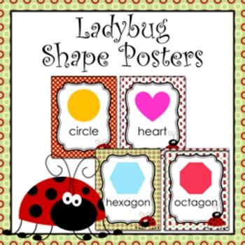 Ladybug Theme Shape Posters