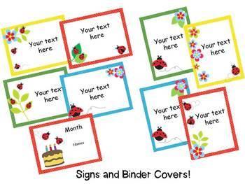 Ladybug Theme Classroom {Editable}