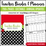 Ladybug Teacher Binder and Planner