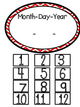 """Ladybug Theme """"What's the Date"""" Wall Display for Writer's Workshop"""