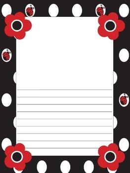 Ladybug Theme Writing Paper
