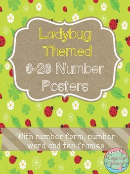 Ladybug Themed 0-20 Numbers Posters
