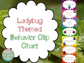 Ladybug Themed Behavior Clip Chart