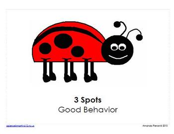 Ladybug Themed Behavior Clip Chart AND Take Home Chart