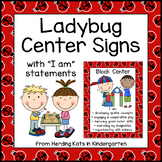 Ladybug Themed Center Signs