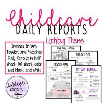 Ladybug themed childcare daily reports daycare by ashleys goodies ladybug themed childcare daily reports daycare altavistaventures Gallery