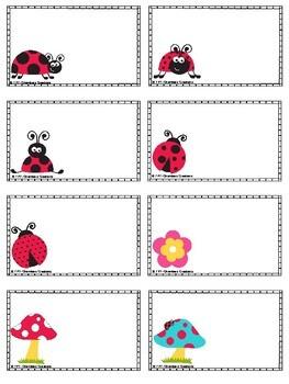 Ladybug Themed Classroom Labels
