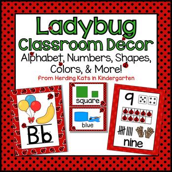 Ladybug Themed Classroom Poster Bundle