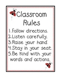 Ladybug Themed Classroom Rules Poster